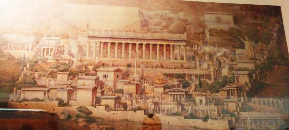 mapa de los templos de Delfos en Grecia