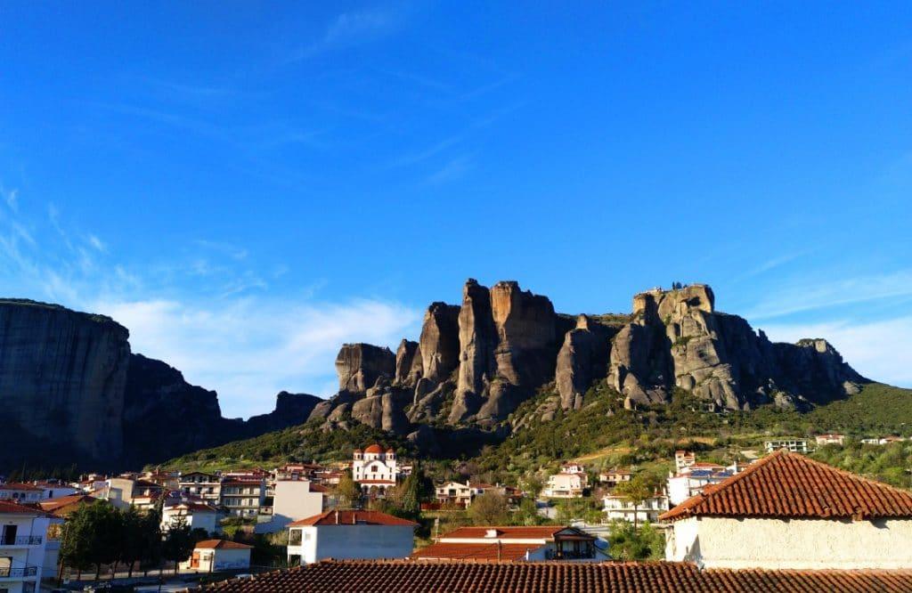 vistas de Meteora desde el hotel Kosta Famisi