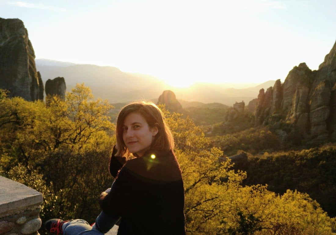 Atardecer en las montañas de Kalambaka, Meteora en Grecia