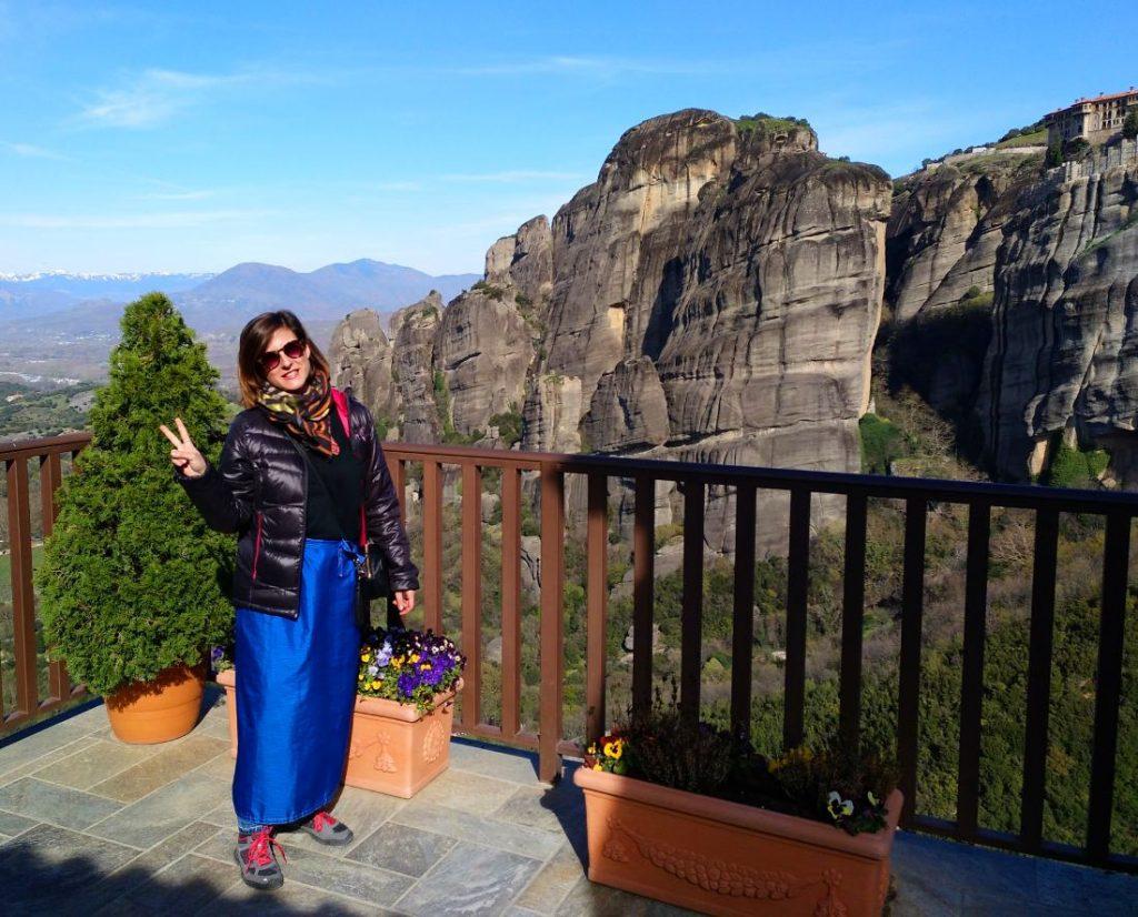 vistas desde los monasterios de Meteora