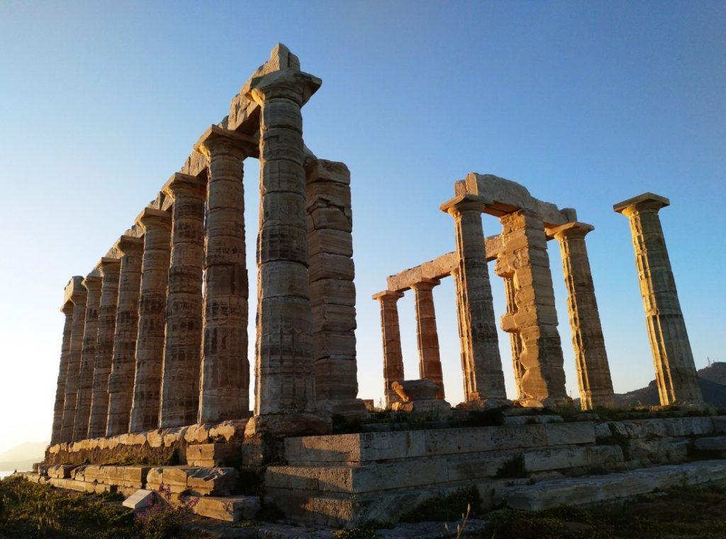 templo de Poseidón en Cabo Sunion, Grecia, Atica