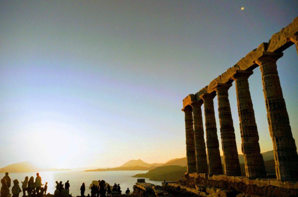 Atardecer en Cabo Sunion, Grecia (Atenas, Atica)